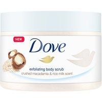 Dove Shower Body Scrub Jar Crushed Macadamia and Rice