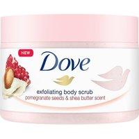 Dove Shower Body Scrub Jar Pomegranate Seeds and Shea Butter