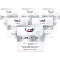 Eucerin Hyaluron-Filler Day Cream for Dry Skin SPF15 - 6 Pack