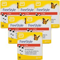 Freestyle Lite Blood Glucose Testing Strips - 6 Pack