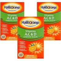 Haliborange Vitamins A C & D Tablets Orange Flavoured Triple Pack