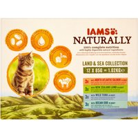IAMS Naturally Adult Cat Land & Sea