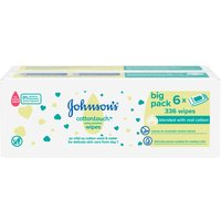 Johnsons Baby Cotton Touch Wipes 56 Pieces 6 Pack
