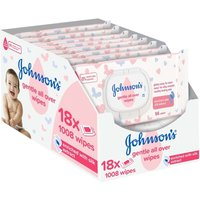 Johnsons Baby Gentle All Over 1008 Wipes