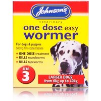 Johnsons Easy One Dose Wormer Large Dogs
