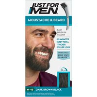 Just For Men Moustache & Beard Brush - In Colour - Dark Brown/Black