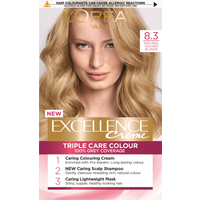 L'Oreal Paris Excellence Creme 8.3 Natural Golden Blonde Hair Dye