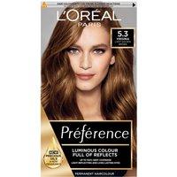 LOreal Preference 5.3 Virginia Light Golden Brown Permanent Hair Dye