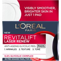 L'Oreal Paris Revitalift Laser Renew Anti-Ageing Glycolic Peel Pads