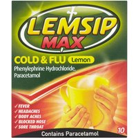 Lemsip Max Cold & Flu Lemon Sachets
