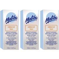 Malibu Miracle Tan Aftersun Lotion Triple Pack