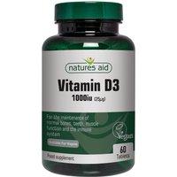 Natures Aid Vegan Vitamin D3 1000iu (25ug)