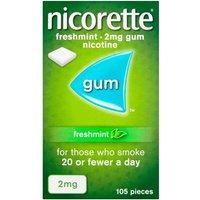 Nicorette 2mg Freshmint Gum - 1050 Pieces
