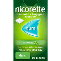 Nicorette 4mg Freshmint Chewing Gum- 25 Pieces