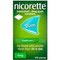 Nicorette 4mg Freshmint Gum - 1050 Pieces