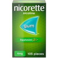 Nicorette 4mg Freshmint Gum Ten Pack 105's