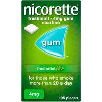 Nicorette 4mg Freshmint Gum Ten Pack 105 s
