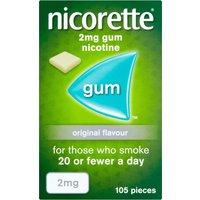 Nicorette 2mg Original Gum - Ten pack - 1050 Pieces