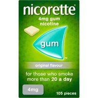 Nicorette Original Gum 4mg 105 Pieces