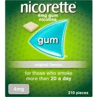 Nicorette Gum Classic 4mg 210 Pieces