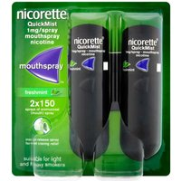 Nicorette QuickMist Freshmint 1mg Mouthspray Duo
