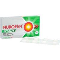 Nurofen Express Ibuprofen 256mg Tablets