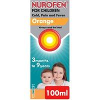 Nurofen For Children Cold Pain and Fever Relief Orange