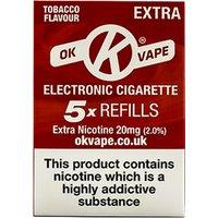 OK Vape Extra High Strength Tobacco Refills (20mg)