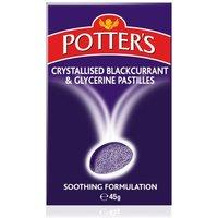 Potters Crystallised Blackcurrant & Glycerine Pastilles