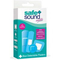 Safe & Sound 20 Blue Detectable Plasters