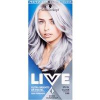 Schwarzkopf Live Ultra Brights Or Pastel 98 Steel Silver Semi Permanent Hair Dye