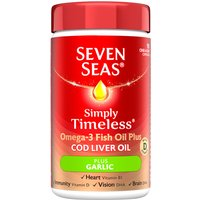 Seven Seas Cod Liver Oil Plus Garlic 90 Tablets