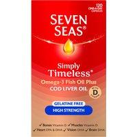 Seven Seas Cod Liver Oil High Strength Gelatine Free Capsules 120's
