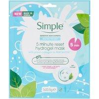 Simple Waterboost 5-Minute Reset Hydrogel Sheet Mask