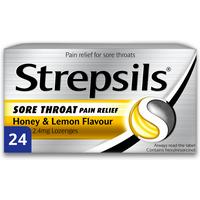 Strepsils Sore Throat Relief Honey and Lemon Lozenges