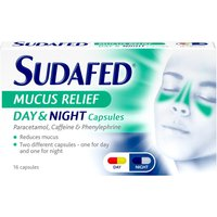 Sudafed Mucus Relief Day   Night Capsules 16s