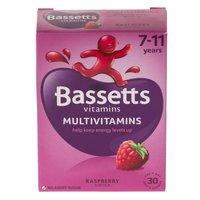 Bassetts Multivitamins 7-11 Years Multivitamins Raspberry 30 Packs