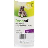 Drontal Tasty Dog Bone-Shaped Wormer Tablets - 4 Pack