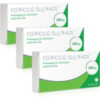 Ferrous Sulphate 200mg Tablets 100 s