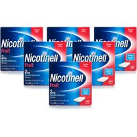 Nicotinell Nicotine Gum Stop Smoking Aid 2 mg Fruit 204 Pieces- 1224 Pieces