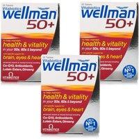 Vitabiotics Wellman 50+ Triple Pack