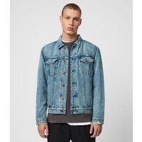 AllSaints Men's Cotton Regular Fit Danby Denim Jacket, Blue, Size: S