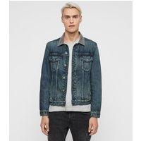 AllSaints Men's Cotton Regular Fit Indeep Denim Jacket, Blue, Size: M