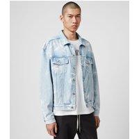 AllSaints Men's Cotton Denby Denim Jacket, Blue, Size: M/L