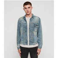 AllSaints Men's Cotton Regular Fit Isidro Denim Jacket, Blue, Size: M