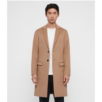 AllSaints Men's Wool Slim Fit Birdstow Coat, Brown, Size: 36