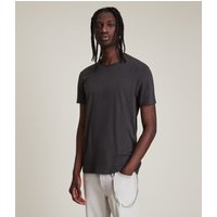 AllSaints Men's Cotton Regular Fit Figure Crew T-Shirt, Black, Size: L