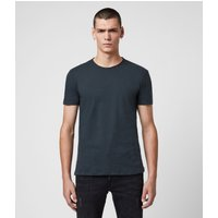 AllSaints Men's Cotton Regular Fit Figure Crew T-Shirt, Blue, Size: S