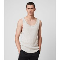 AllSaints Men's Cotton Slim Fit Darius Vest, Grey, Size: M