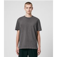 AllSaints Men's Cotton Musica Crew T-Shirt, Grey, Size: S